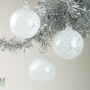 Pale Baby Blue and White Ice Ornament Suncatcher