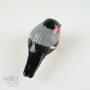 Eurasian Bullfinch Pottery Bird Sculpture by Carrie Wolf