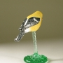 American Goldfinch Pottery Bird Sculpture by Carrie Wolf