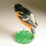 Baltimore Oriole Pottery Bird Sculpture by Carrie Wolf