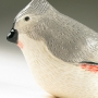 Tufted Titmouse Pottery Bird Sculpture by Carrie Wolf