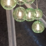 Blown Recycled Glass Eco-Globe Pendants at DIFFA\'s DINING BY DESIGN