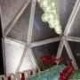 Blown Recycled Glass Eco-Globe Pendants at DIFFA's DINING BY DESIGN