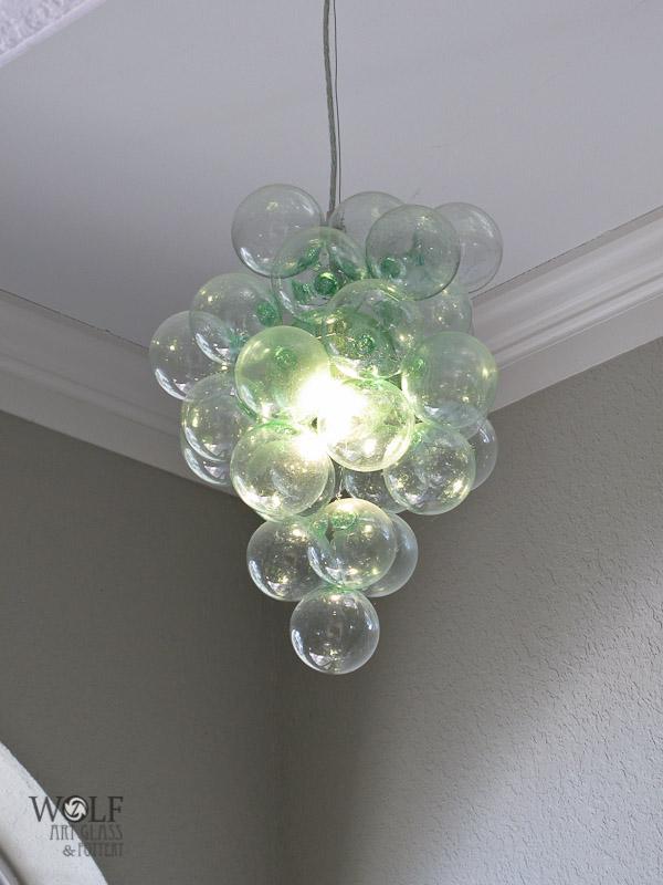 Blown recycled glass bottle art at blown art glass recycled blown recycled bottle glass bubble chandelier aloadofball Choice Image