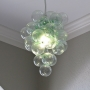 Blown Recycled Bottle Glass Bubble Chandelier