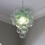 Blown Recycled Bottle Glass Bubble Chandelier