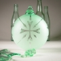 Blown Recycled Bottle Glass Ornament Ball