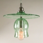 Recycled Bottle Glass Hat & Bell Pendant Lamp
