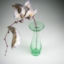 Blown recycled glass blown glass bud vase