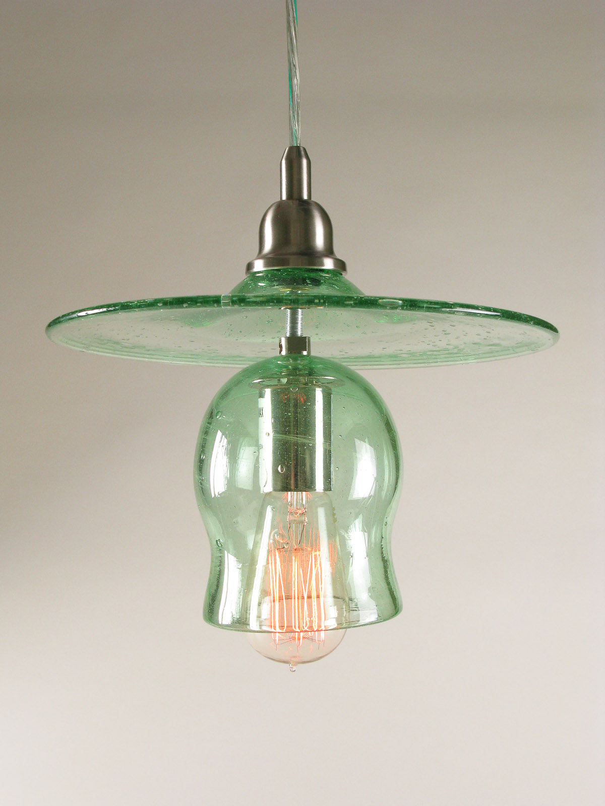 recycled glass lighting. recycled bottle glass hat u0026 bell pendant lamp lighting