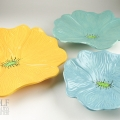 Soft Turquoise, Bright Yellow and Seafoam Ceramic Wall Art
