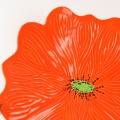 Bright Orange Ceramic Poppy Wall Art