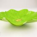 Lime Green Poppy Ceramic Wall Art