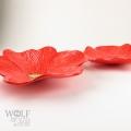 Tomato Red Ceramic Poppy Wall Art