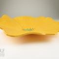 Bright Yellow Poppy Ceramic Wall Art