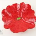 Bright Red Ceramic Poppy Wall Art