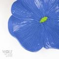 Dark Blue Ceramic Poppy Wall Art