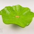 Lime Green Ceramic Poppy Wall Art