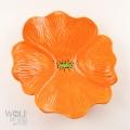 Saffron Orange Ceramic Wall Art