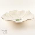White Speckle Ceramic Poppy Wall Art