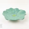 Seafoam Green Ceramic Poppy Wall Art