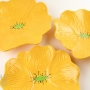 Bright Yellow Poppy Ceramic Wall Art
