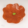 Caramel Brown Ceramic Poppy Wall Art