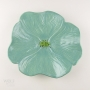 Sea Foam Green Ceramic Poppy Wall Art