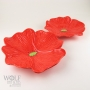 Tomato Red Ceramic Poppy Wall Art