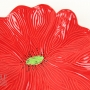Bright Red Ceramic Poppy Wall Art