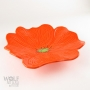 Bright Orange Ceramic Poppy Wall Art