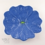 Dark Blue Ceramic Poppy Wall Art