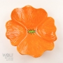 Saffron Orange Ceramic Wall Art