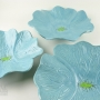Soft Turquoise Ceramic Poppy Wall Art