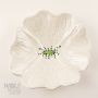 White Speckle Ceramic Poppy Wall Art