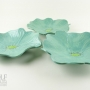 Seafoam Green Ceramic Poppy Wall Art Trio
