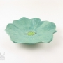 Seafoam Green Ceramic Poppy Wall Art
