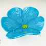 Turquoise Blue Poppy Ceramic Wall Art