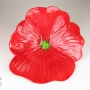 Red Poppy Ceramic Wall Art