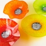 Blown Glass Wall Art - Bright Orange, Bright Red, Bright Yellow & Lime Green Collection