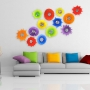 Blown Glass Wall Art Collection Digital Mockup - Poppies & Starburst