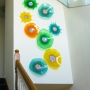 Residential Install - Poppies & Starbursts Glass Wall Art