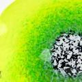 Lemon Lime Green Poppy Flower Glass Wall Art