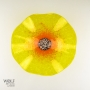 Yellow Poppy Flower Glass Wall Art