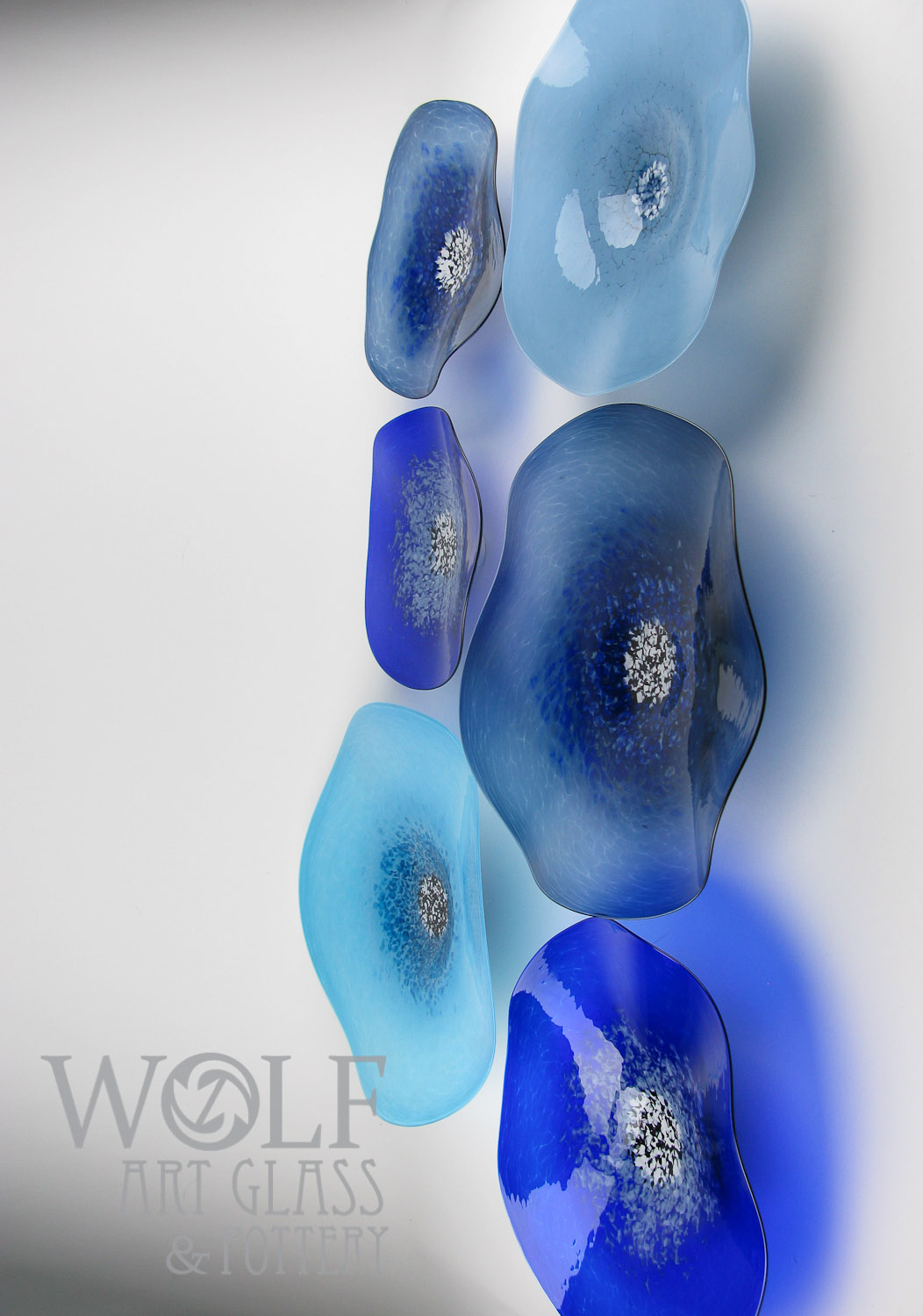 Our blown glass is made from new colored art glass or recycled bottle glass and our shopu0027s electricity is renewably sourced. & Blown Glass Wall Art Glass Ornaments and Blown Recycled Bottle ...