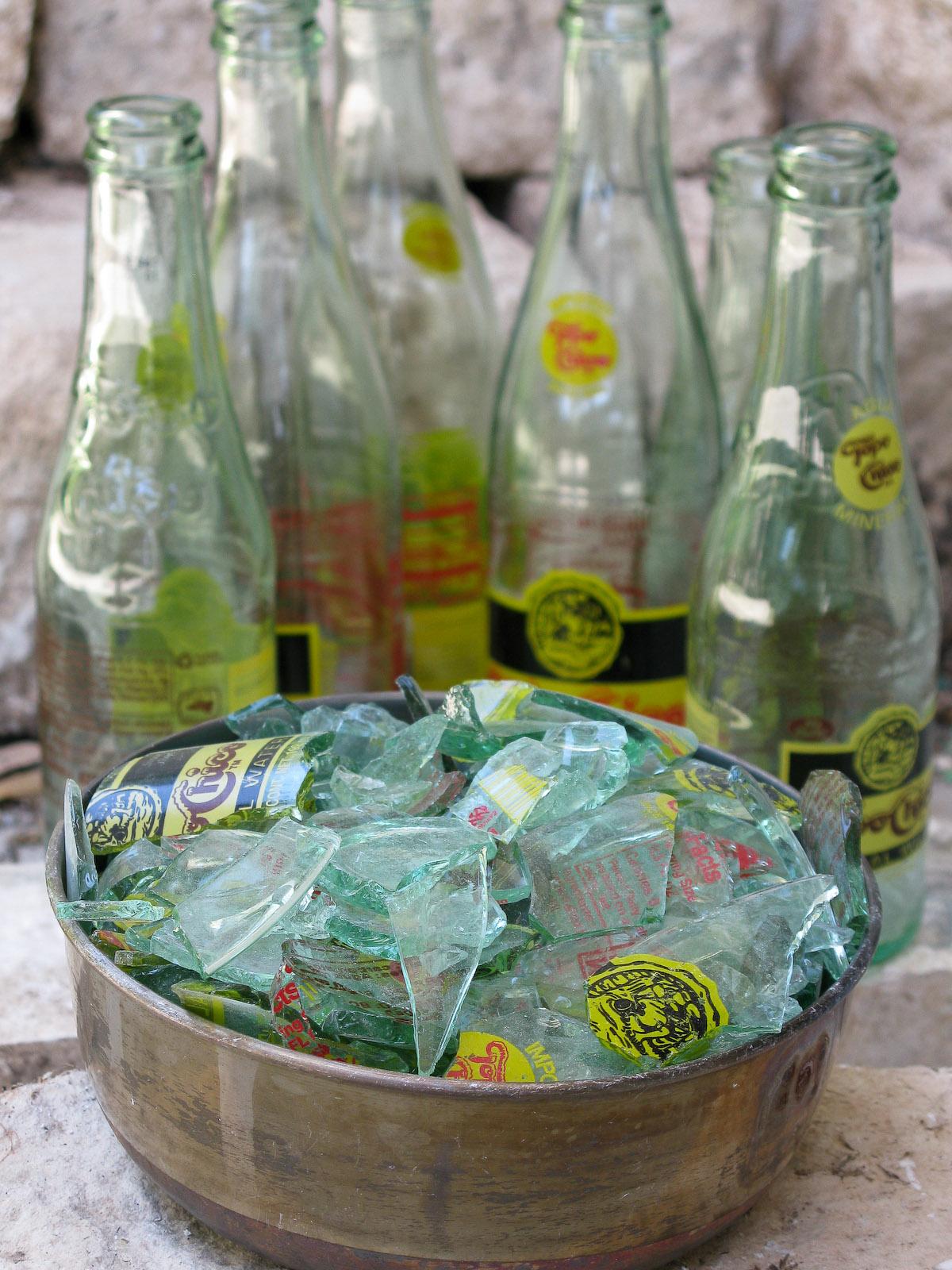 Blown Recycled Glass Bottle Art At Blown Art Glass